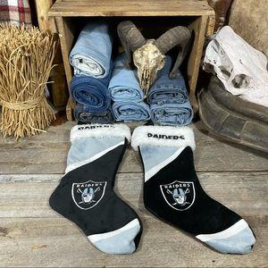 2 NFL Raiders Christmas Stockings